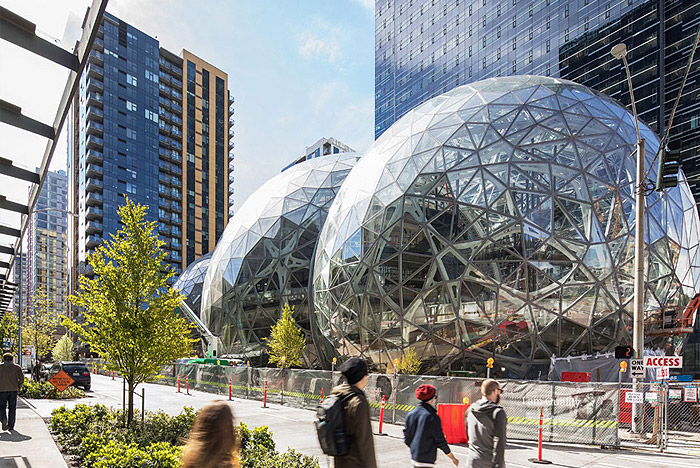 Amazon Opens The Spheres In Downtown Seattle
